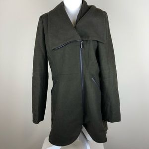 FRENCH CONNECTION Tulip Hem Wool Blend Coat M NWT